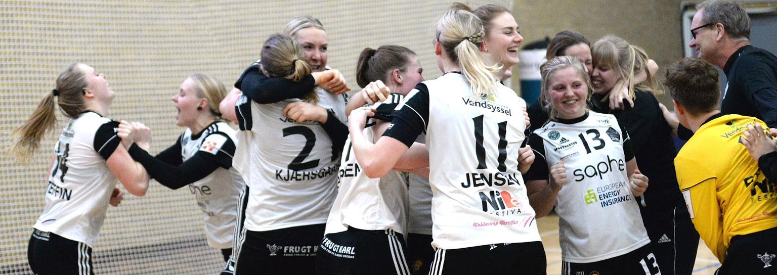 EH Aalborgs spillere begejstret efter sejr